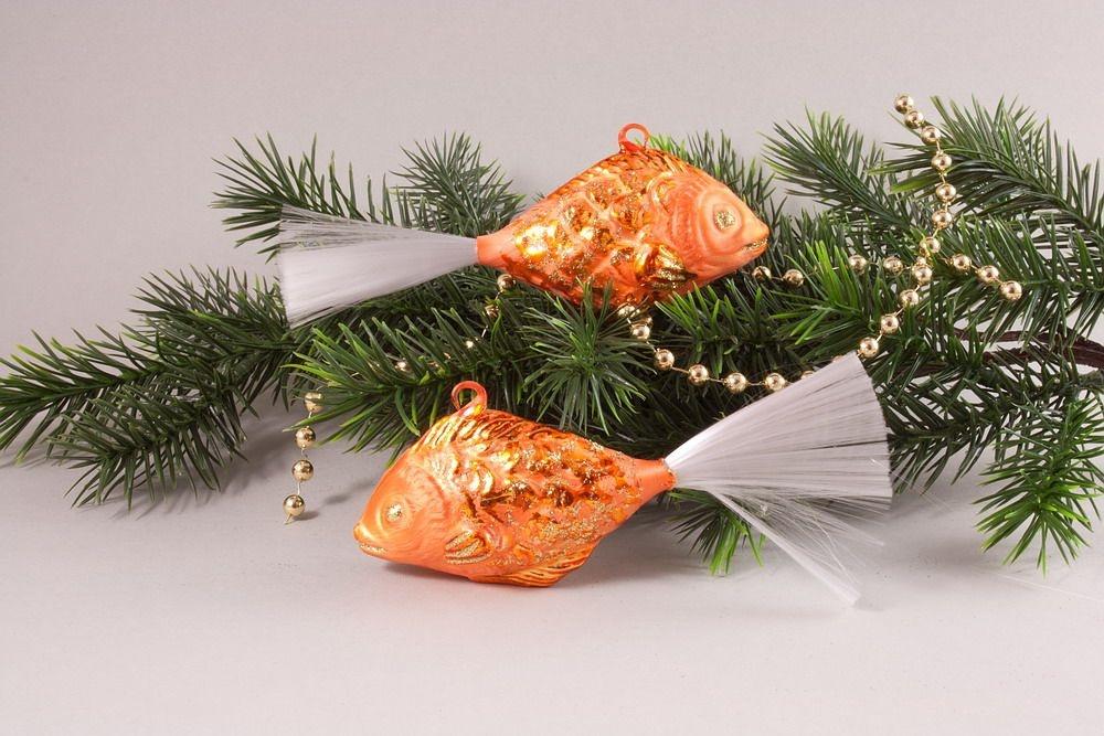 2 Fische Eis-orange 13 cm x 5 cm
