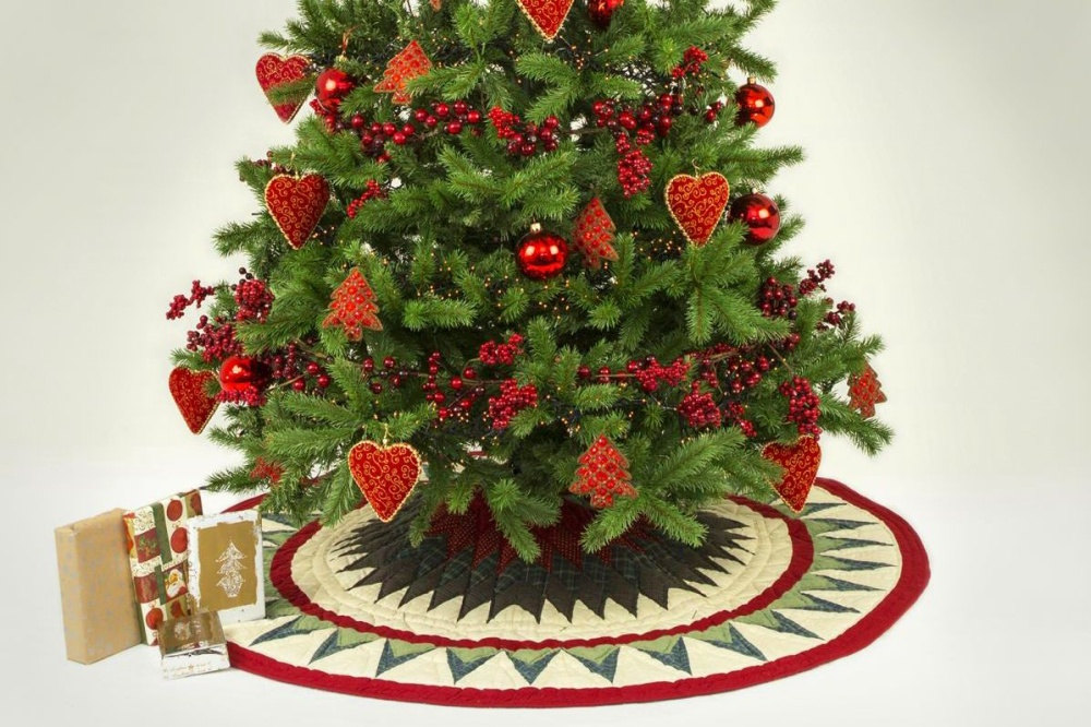 Baumdecke für den Weihnachtsbaum Stern