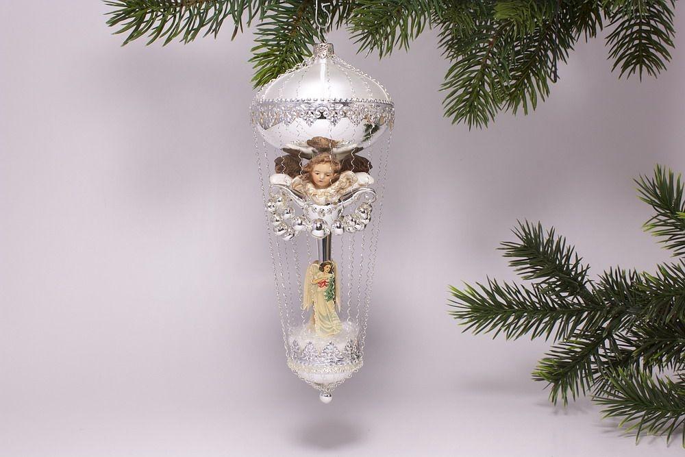 Antik Style - Ballon mit 3 Engeln aus Marolin Baumschmuck