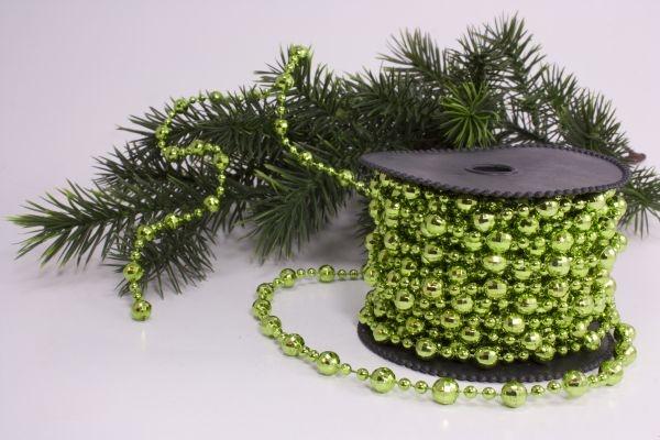 Perlenschnur apfelgrün deluxe 10m x 8mm