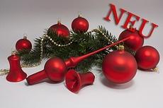 rote Weihnachtsbaumkugeln matt uni