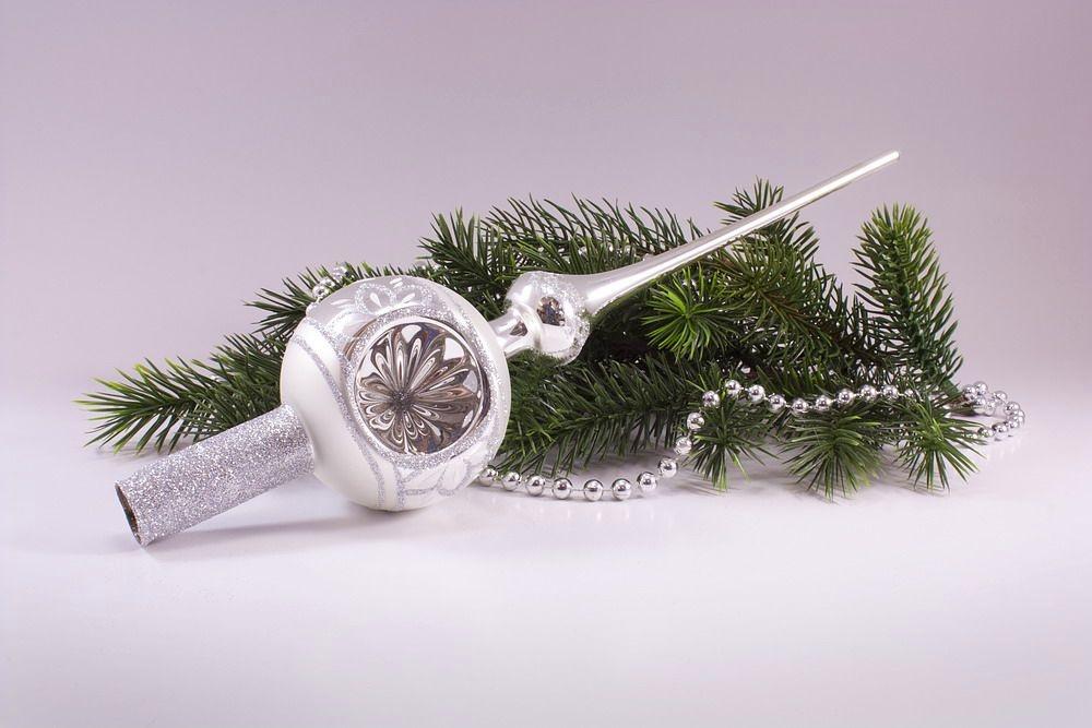Reflexspitze 8cm Silber Glanz matt umrandet