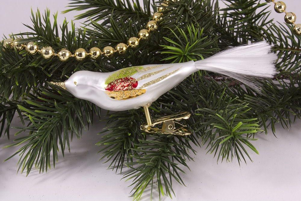1 vogel bunte weihnacht christbaumkugeln for Bunte lampenschirme aus glas
