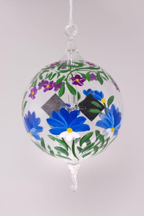 Lichtmuhle Radiometer Hangend 8cm Blaue Blume Christbaumkugeln