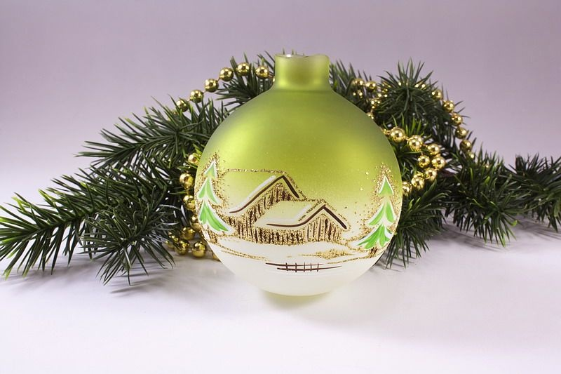 Ersatzkugel beleuchtete Kugelgehänge Waldhaus grün