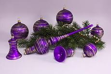 violett matt gold geringelt