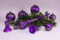 Violett matt Weihnachtskugeln