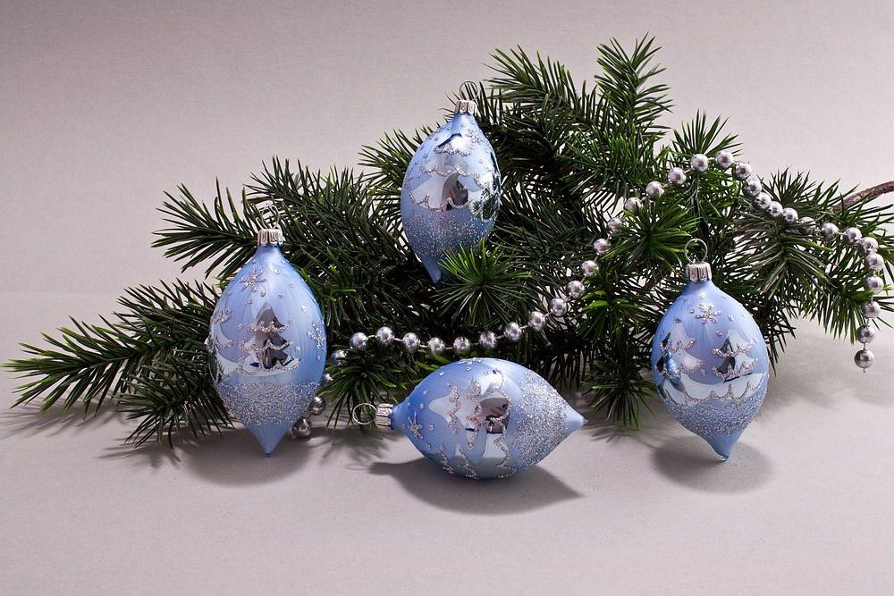 4 Zitronen Eis-hellblau silberne Tanne