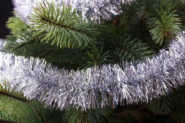 Girlande für den Weihnachtsbaum silber 50mm x 3m