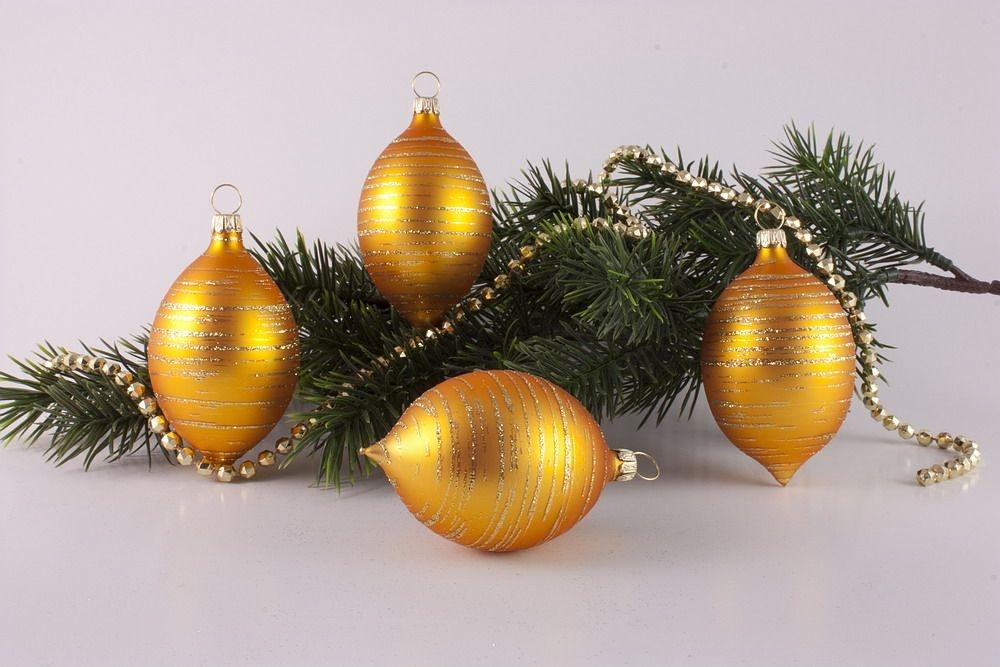 4 Zitronen Gold matt geringelt