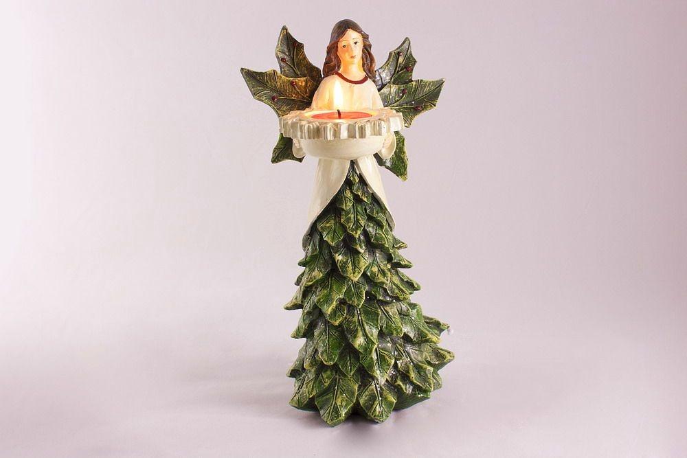 Teelichthalter Weihnachtsengel