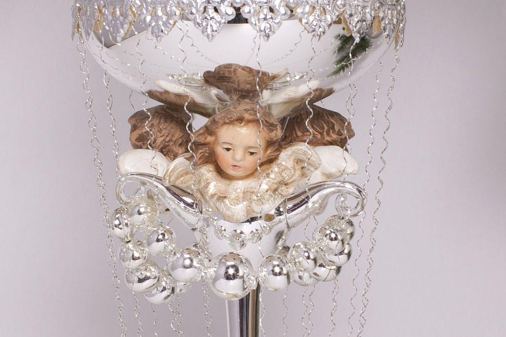 Antik style ballon mit 3 engeln aus marolin baumschmuck for Nostalgische weihnachtskugeln