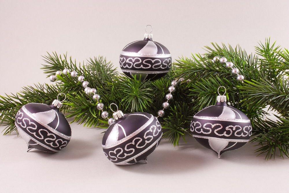 4 Zwiebeln Schwarz Silber