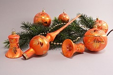 Eis - orange Baumschmuck