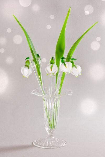 Bowlespieße Glas 10-teiliges Set Märzenbecher gerades Blatt