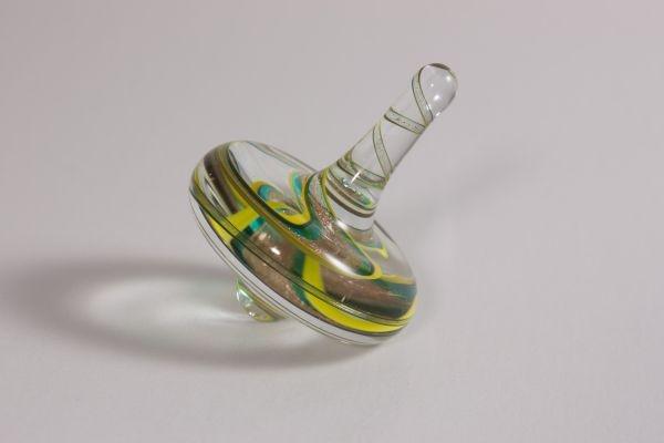 Glasfigur Glaskreisel Drehkreisel aus Glas