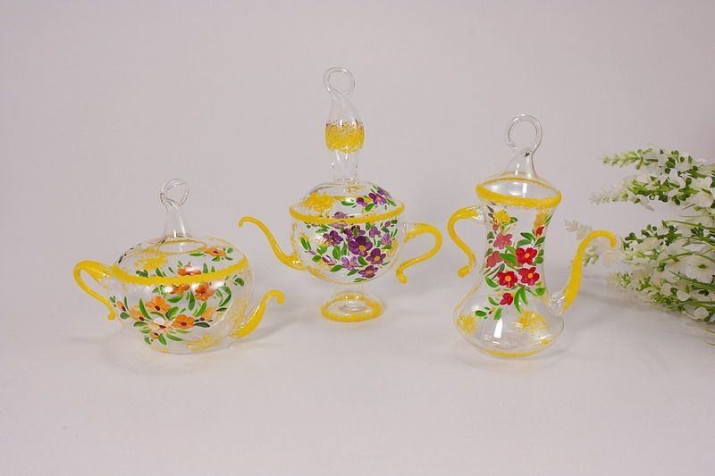 dekoratives Kännchen - Set aus Glas Nr.1