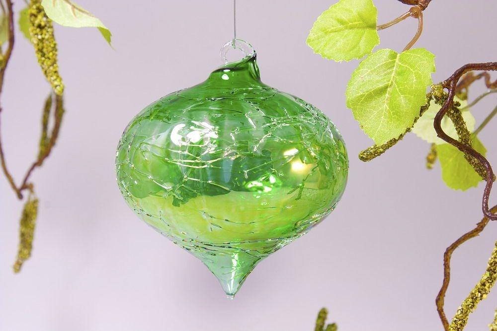 Zwiebel 8cm x  8cm in Seifenblasenoptik klar grün