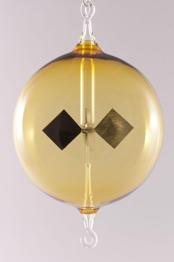 Lichtmühle Radiometer hängend 8 cm gelb