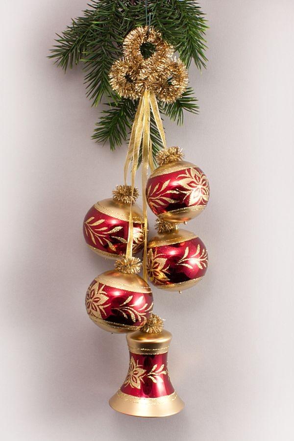 Kugelgehänge mit Glocke Stierglanz - Christstern