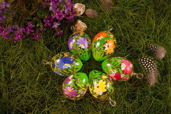 6 bunte ostereier aus glas im sparset ca 6 cm for Bunte lampenschirme aus glas