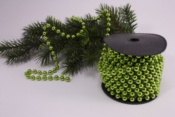 Perlenschnur apfelgrün 10m x 8mm