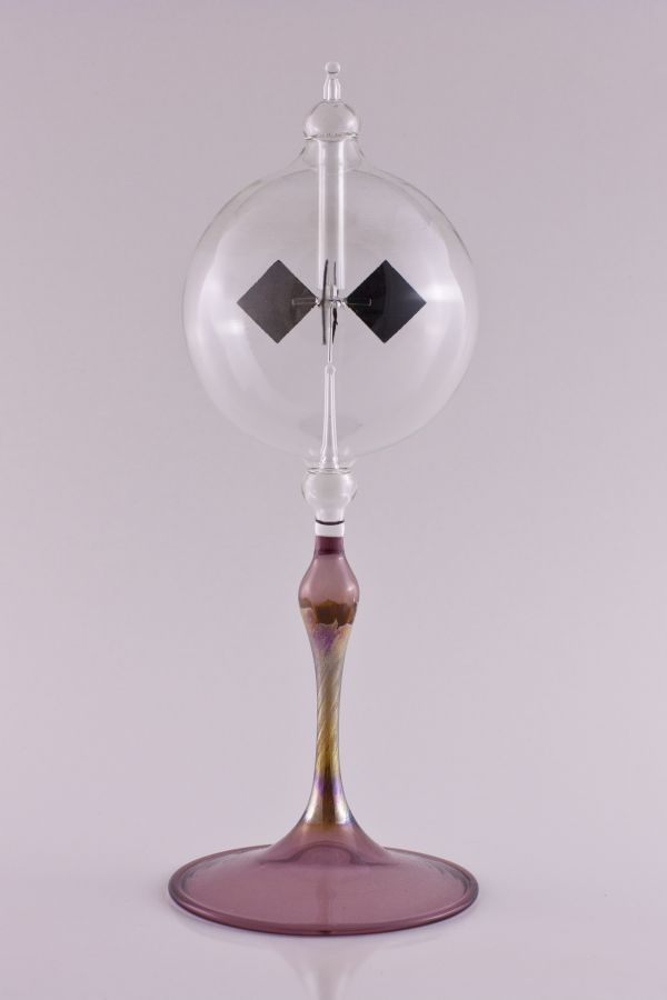 Lichtmühle Radiometer 8cm mit Fuß violett