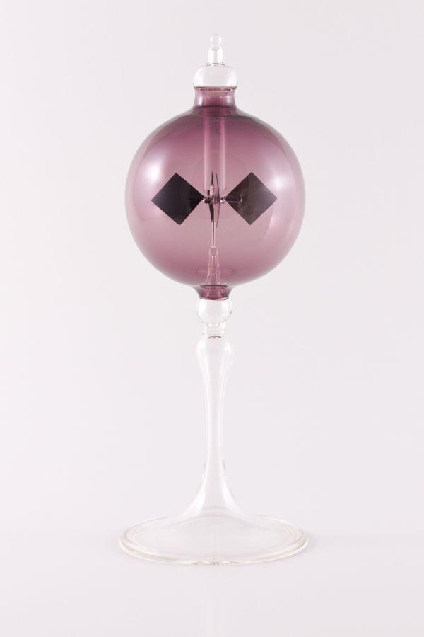 violette Lichtmühle Radiometer stehend 6cm transparent