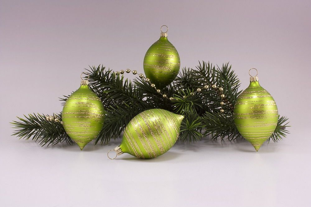 4 Zitronen  Apfelgrün matt gold geringelt