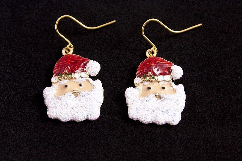 Ohrringe Ohrhänger Santa mit roter Mütze