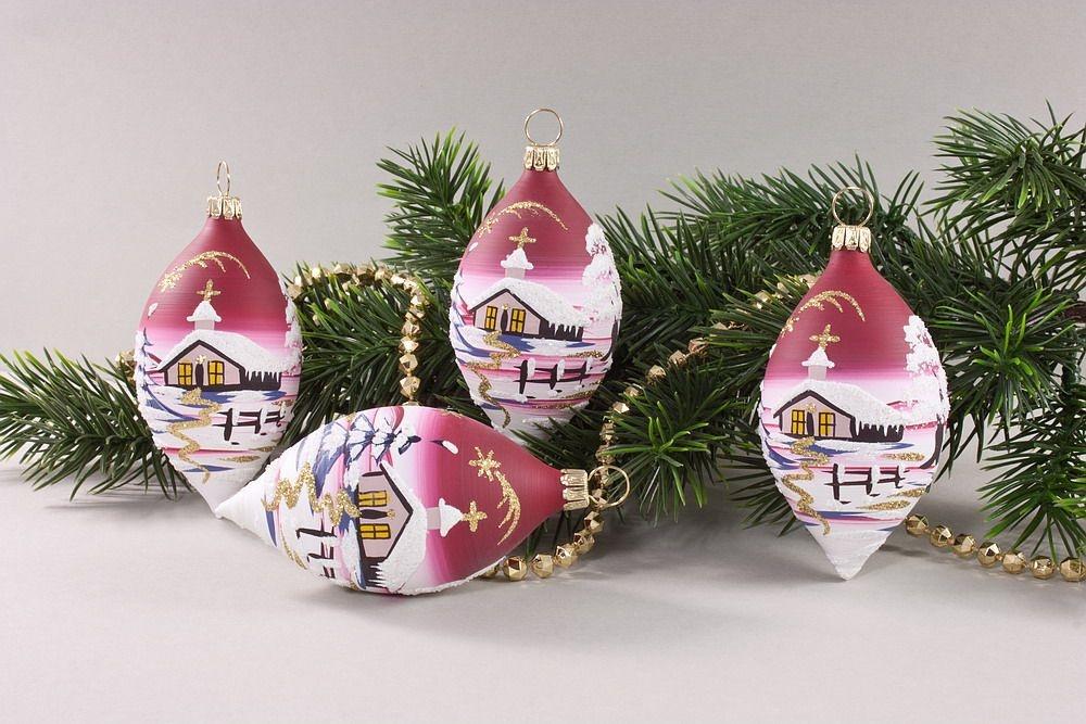 4 zitronen mit landschaft rot christbaumkugeln christbaumschmuck und weihnachtskugeln aus glas. Black Bedroom Furniture Sets. Home Design Ideas