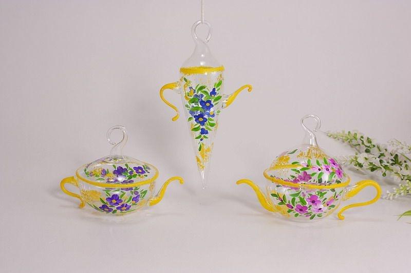 dekoratives Kännchen - Set aus Glas Nr.2