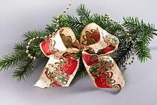 edle Schleifen für den Weihnachtsbaum