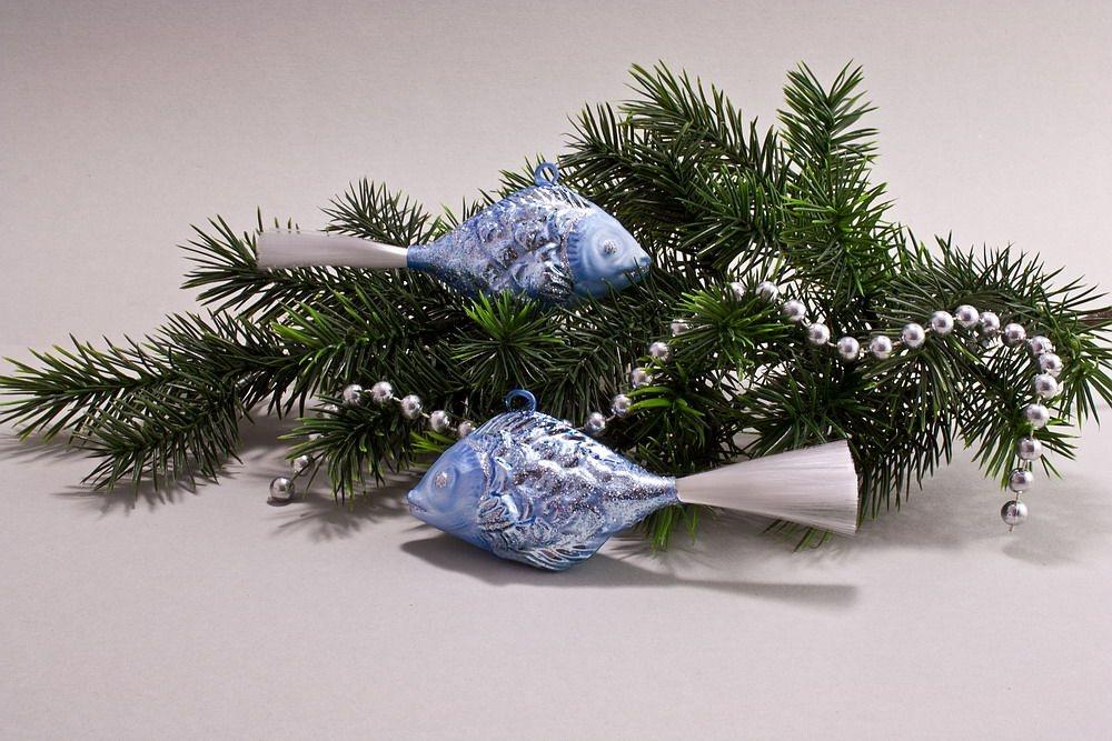 2 Fische Eis-hellblau