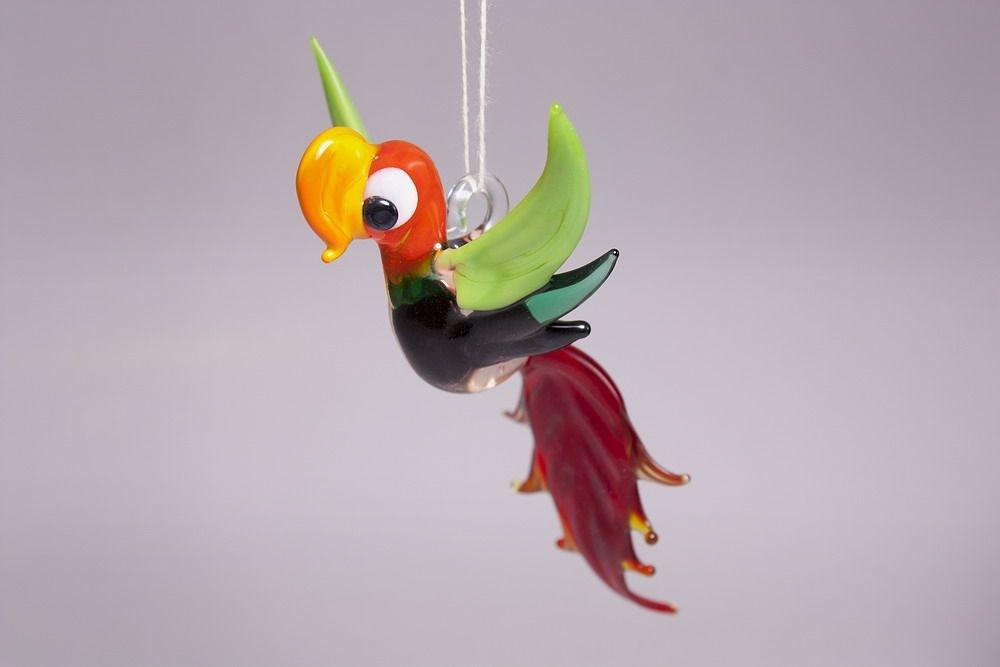 Glasfigur Papagei aus Lauschaer Glas