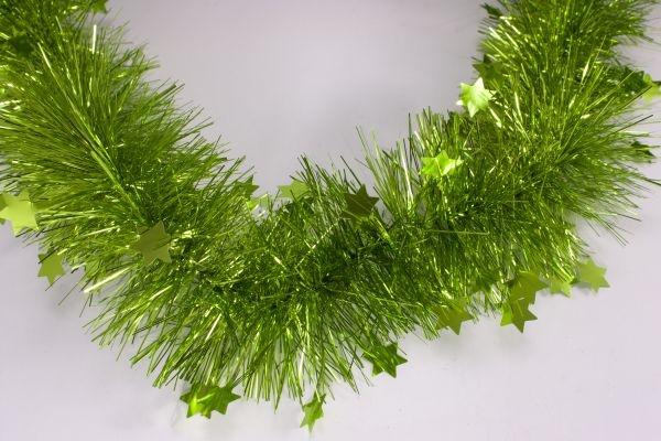 Girlande mit Sternen grün 70mm x 3m