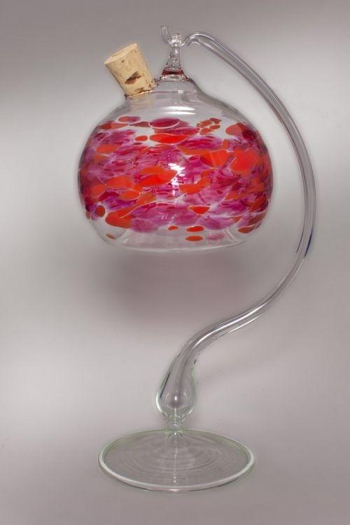 Fliegenfalle aus Glas rot