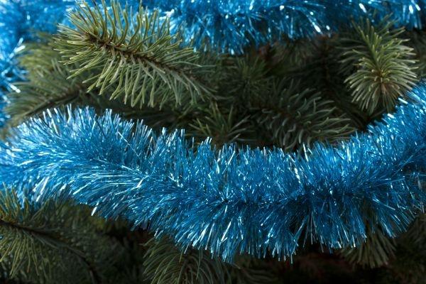 Girlande für den Weihnachtsbaum türkis 50mm x 3m