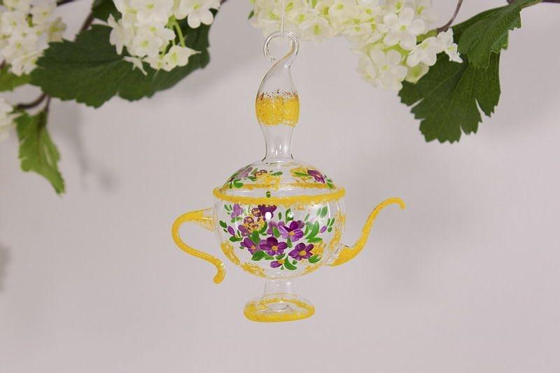 Aladinlampe Dekoration aus Glas