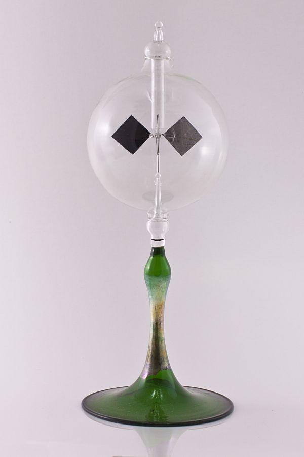 Lichtmühle Radiometer 8cm mit grünem Fuß