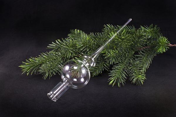 Christbaumspitze Klarglas zum bemalen