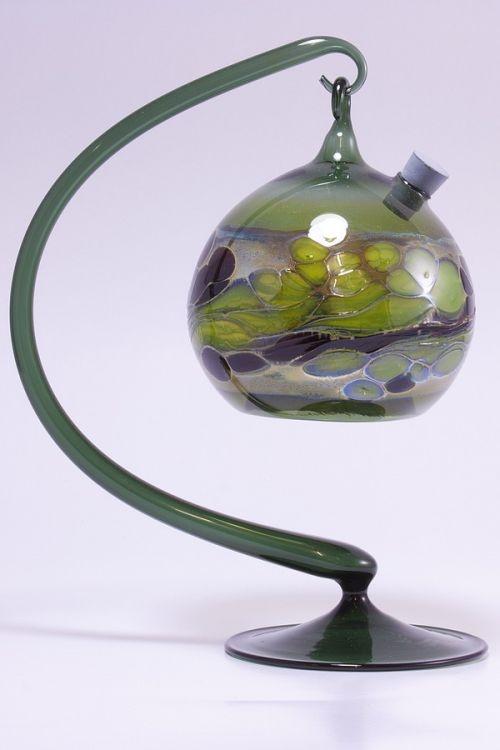 Obstfliegenfalle aus Glas grünes Set
