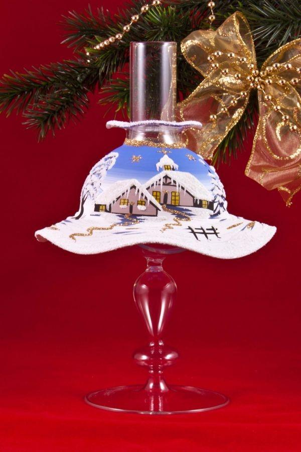 Teelichthalter Set Lampe mit Schirmchen in hellblau