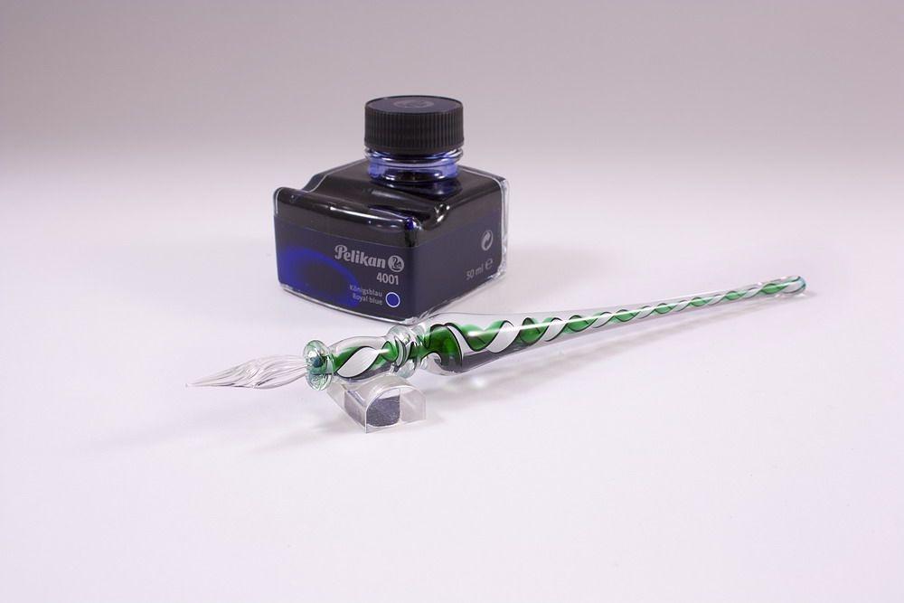 Geschenkset Glasschreiber grün weiß schwarz transparent
