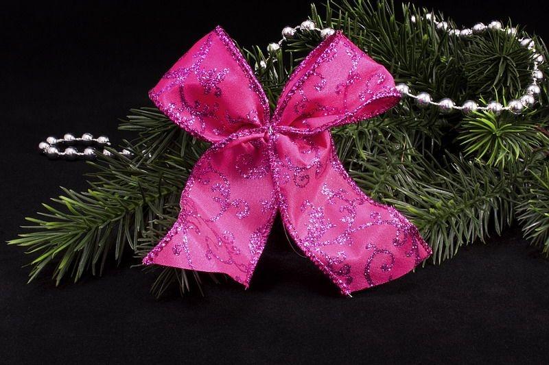 Weihnachtsschleife Christbaumschleife in magenta