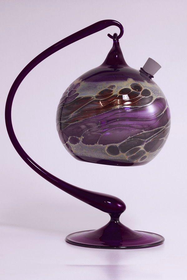 Obstfliegenfalle aus Glas violettes Set