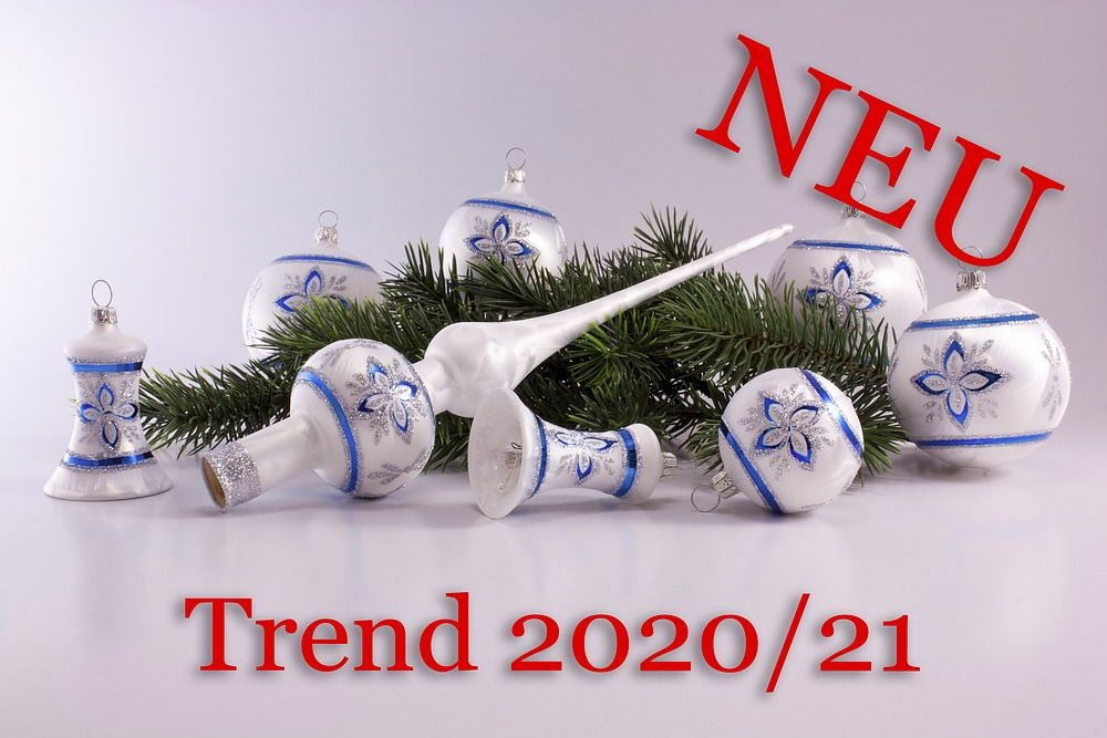 21teiliges Set Eisweiß nordic blau Trend 2020/2021