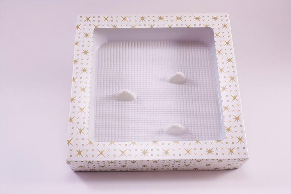 Verpackung für 3 mundgeblasene Vögel mit Klemmfuß