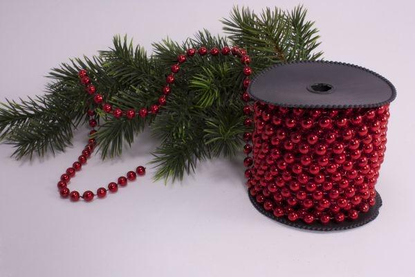 Perlenschnur rot 10m x 8mm