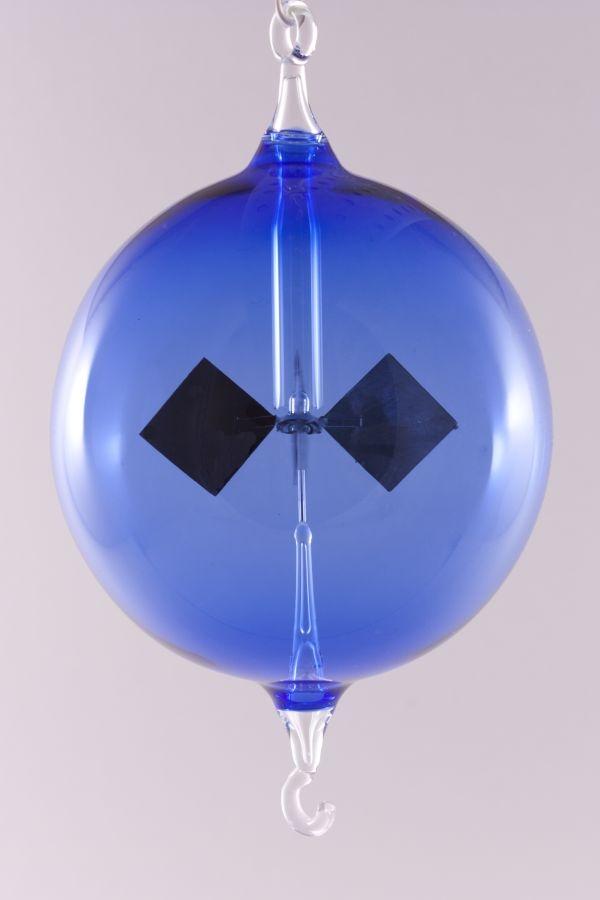 Lichtmühle Radiometer hängend 8 cm blau